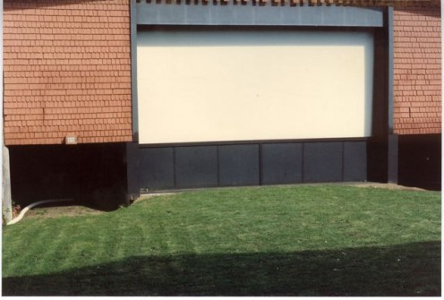 The screen area and lawn in later years.