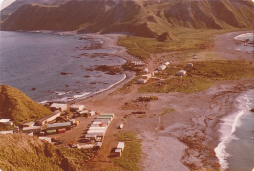 Base camp as it was before we built the big warehous in 1976-1977