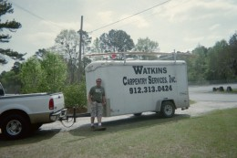 Watkins'Carpentry Service, Inc. did the remodeling and brought the 1865 homeplace into the 21 century.  Thanks son!