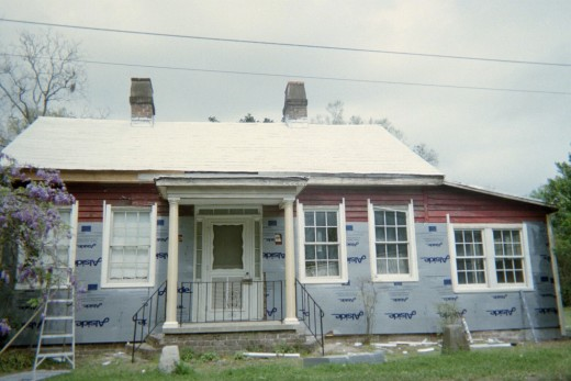 Homeplace appeared old and worn out before remodeling in 2006.