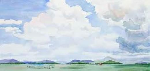 Colorada Big Sky, from paintingswithfabrics.com