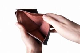 We've all known this feeling - the empty wallet! Pic: Image: graur razvan ionut / FreeDigitalPhotos.net