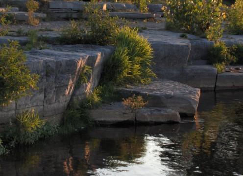 Ottawa city, shallows of Ottawa River
