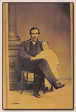 Hubert Bancroft and Daughter Kate Bancroft c1870