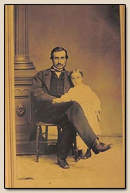 Hubert Bancroft and Daughter Kate Bancroft c1870