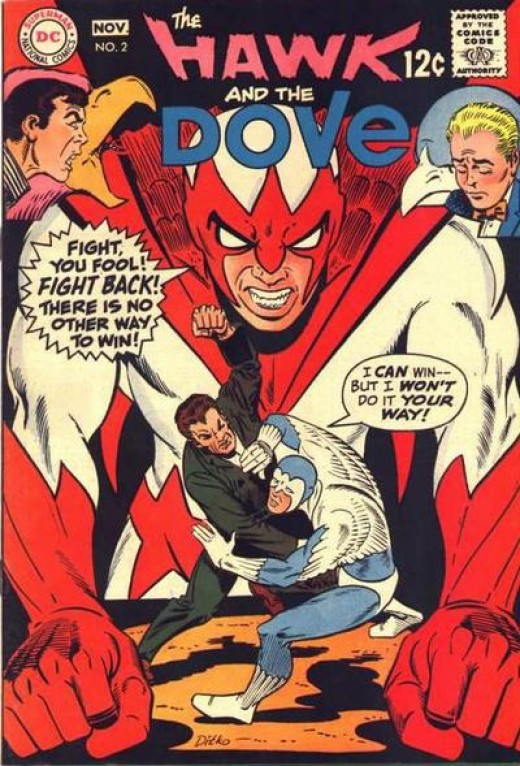 Hawk and Dove by Steve Ditko for DC Comics