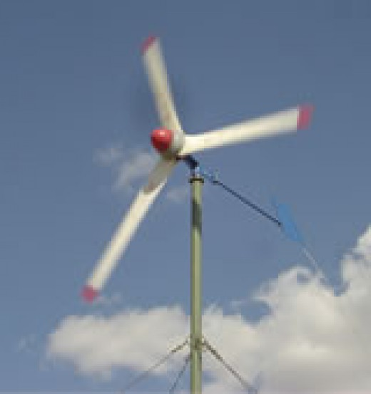 A simple home windmill. See how uncomplicated they are!