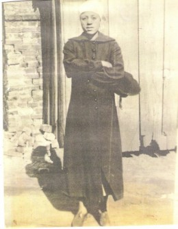 My Maternal Great-great Grandaunt who does not resemble her sister my very dark-complexioned late Great-grand mother.