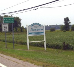 The largest welcome sign for my very small hometown, West Manchester, Ohio!