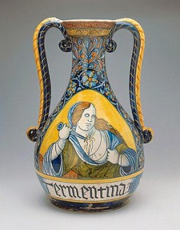 Vase with Lucrezia, by Orazio Pompei.