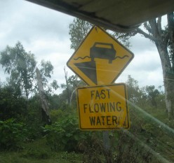 Typical warning sign