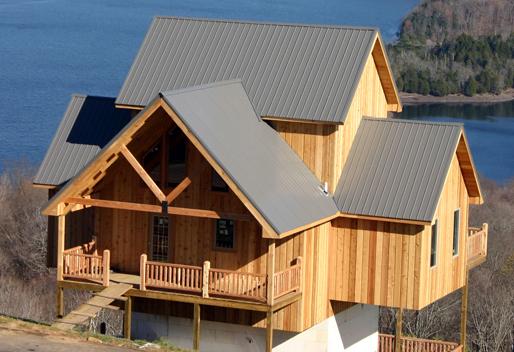 Timber pole farmhouse