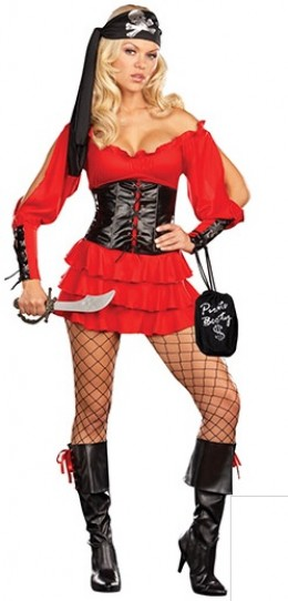 sexy female pirate costume for Halloween or any day of the year you want to hide some treasure