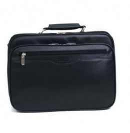 A Kenneth Cole Checkpoint Friendly Laptop Bag (Black Leather)