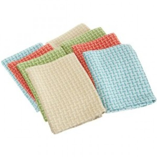 DII Coastal Shades Heavyweight Dishcloth, Set of 8