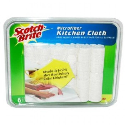 Scotch Brite 3M Microfiber Kitchen Cloth (6-Pack)