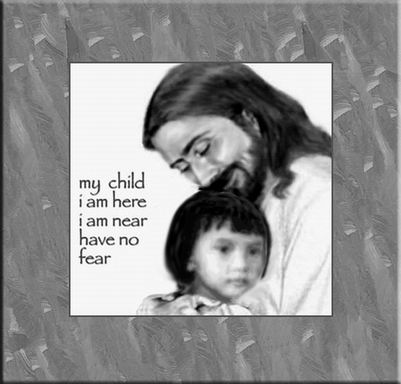 Thanks to photoshop I was able to tailor-fit this wallpaper showing me as the child held tenderly by Jesus. I used this photo to aid me in my healing