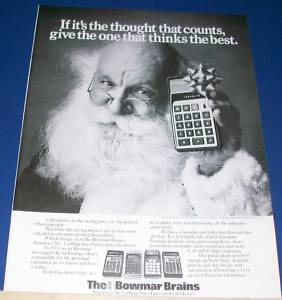 Vintage Ad, mid-1960s. These simple calculators cost nearly $200.00.