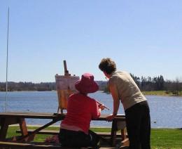 Painting by Videix Lake