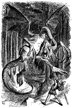 The Jabberwock, as illustrated by John Tenniel.