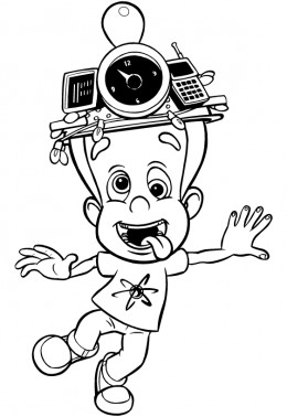 Jimmy Neutron: Boy Genius coloring pages to print