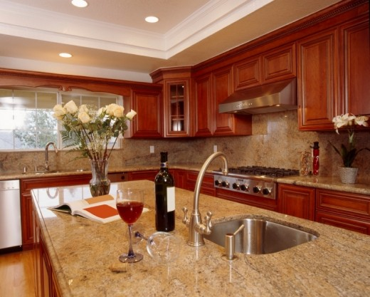 Clean your granite countertop periodically to keep it looking like new.