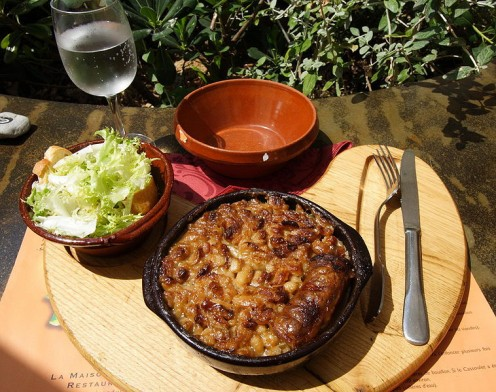 A cassoulet, Castelnaudary style. Courtesy of Wikipedia and photographed by ignis