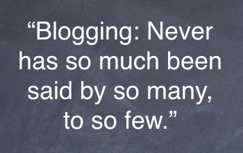The sad truth for most bloggers