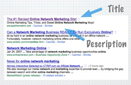 Example of the title and description of a #1 ranked blog. Notice how the keywords are included in both the title and description.