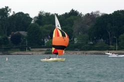 Crescent Sloop Manon on Lake St Clair   deedsphotos