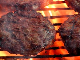 Burgers grilled to perfection.