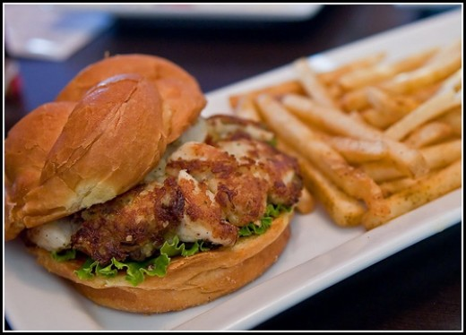 These crab burgers are oh so delicious.