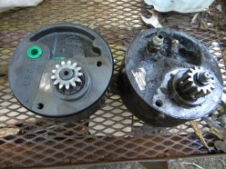 Comparing the old and new tractor steering pumps