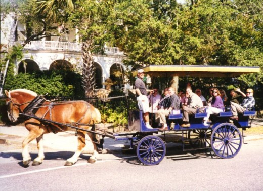 Today you and your family can take a horse drawn carriage ride around historic downtown Charleston South Carolina.