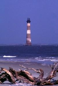 The Historic Morris Island Lighthouse in Charleston Harbor.