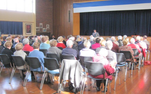 Typical Probus Club audience with yours truly out front
