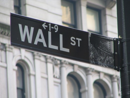 The infamous Wall St. signage