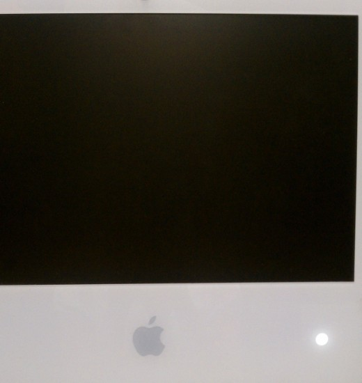 Apple will not turn on. Black screen, lit button.