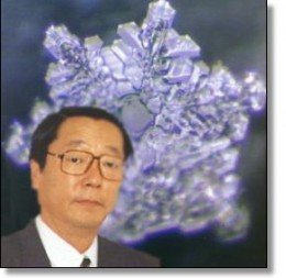"Masaru Emoto and one of his ""Messages from Water"""