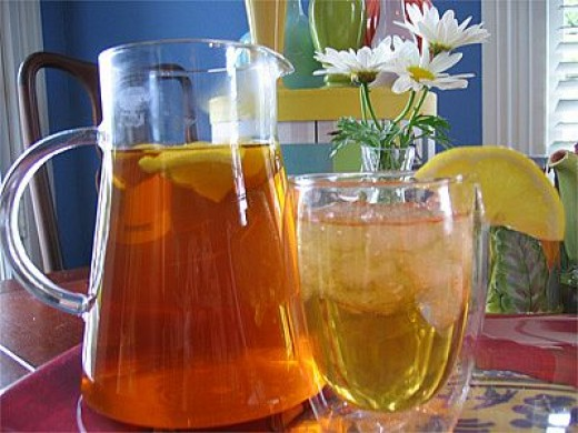 Ice green tea with honey recipes