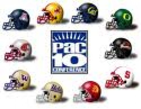 All Pac 10 Team Helmets