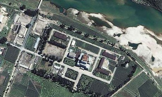 satellite image of the Yongbyon nuclear Plant