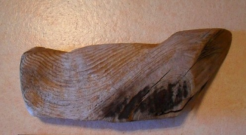 Driftwood grain such as seen in this photo lends itself nicely to added technique of pyrographics, also known as wood burning