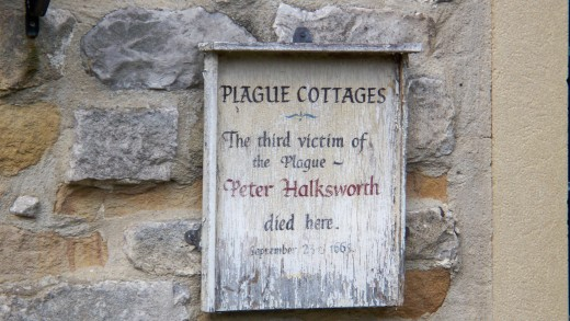 Plague Victim Peter Halksworth memorial sign
