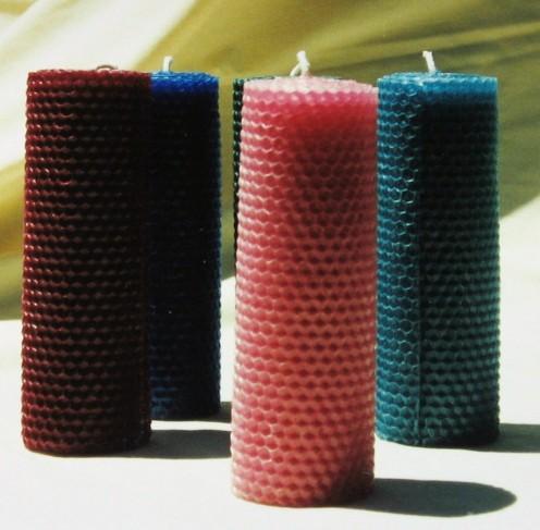 "2""x6"" Beeswax Pillar Candles"