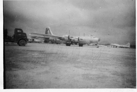 B-29 Bomber at Clark Field on Island of Luzon in the Philippine Islands during World War II