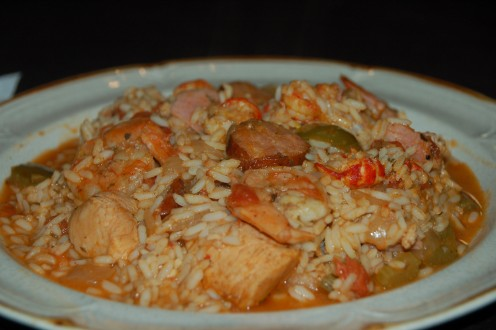 The Bounty Of The Bayou Jambalaya is served!