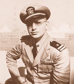 Navy photo of L Ron Hubbard