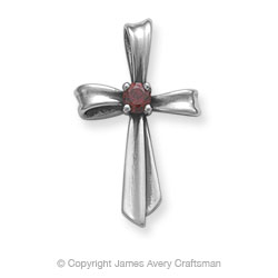 James Avery Ribbon Silver Cross