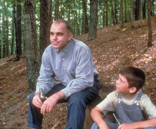 Billy Bob Thornton and Lucas Black in Sling Blade.